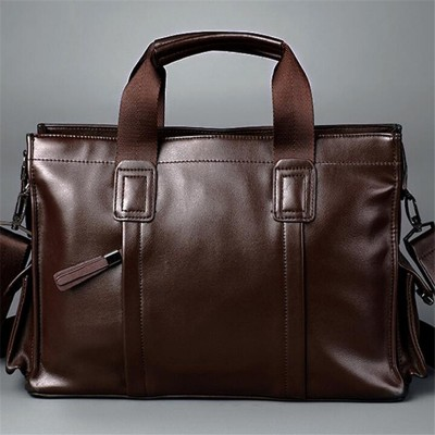 2019 Men Casual Briefcase Business Shoulder Bag Leather Messenger Bags Computer Laptop Handbag Bag Men's Travel Bags X449