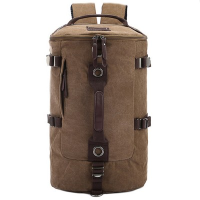 Cool casual canvas man bag one shoulder men's travel bags vintage canvas backpack fashion men's travel duffle bags JM818