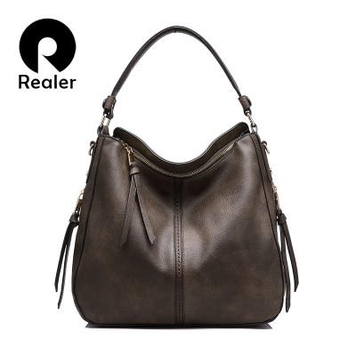REALER brand handbag women shoulder bag female casual large tote bags high quality artificial leather ladies hobo handbag
