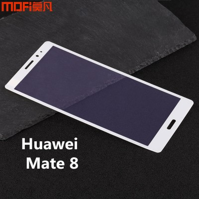 Huawei mate 8 glass full cover tempered glass 3D soft edge huawei mate 8 screen protector white anti glare glass anti blue ray Phone Cases For huawei