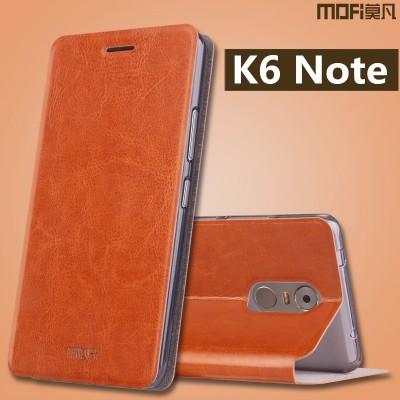 "Lenovo k6 note case cover flip case stand MOFi original PU leather full cover brown lenovo k6 note cover capa coque funda 5.5"""