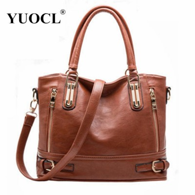 Hot sale 2019 Fashion Designer Brand Women Pu Leather Handbags ladies Shoulder bags tote Bag female Retro Vintage Messenger Bag
