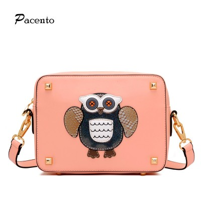 Hot Women Messenger Bag Cartoon Bags Owl Fox Crossbody Leather PU Lady Owl Small Bag Shoulder Bags Bolsas Femininas