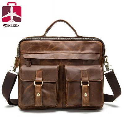 Genuine leather bag 2019 designer handbags high quality Cowhide tote briefcases brand business crossbody bag men messenger bags