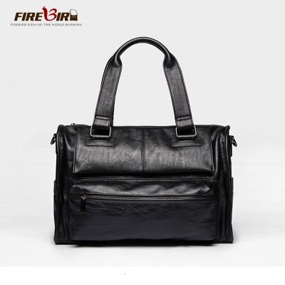 Hot Pu leather shoulder bags for men fashion large capacity handbags Travel Bags Soft leather black messenger bag bolsos B118