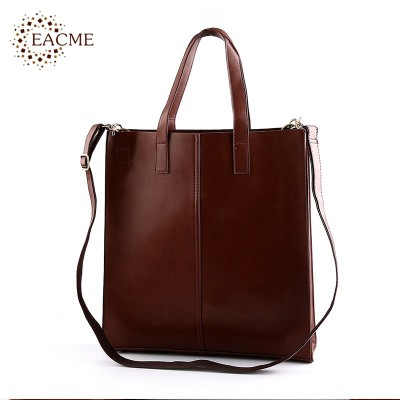 Casual Shoulder Tote Bag Men Handbag Quality PU Leather Women Totes Shopping Hand Bags Black Brown Durable Crossbody Bag Bolsos