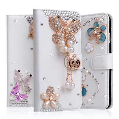 Rhinestone For Samsung Galaxy J5 2017 Case EU Eurasian Version For Case Samsung Galaxy J5 2017 Luxury Case Flip Case 5.5'