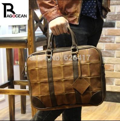 New Popular High Quality Pu Leather Business Bag For Men  Messenger Shoulder Bags Large Crossbody Bags Laptop Handbag Briefcase