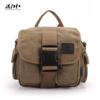 MANJH Business Canvas Waist Packs Multi-function Men's Single Shoulder Bag Personality Brand Joker Inclined Shoulder Bag M022
