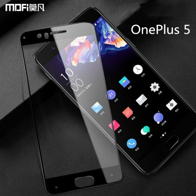 MOFi Case for Oneplus 5 glass oneplus 5 tempered screen protector  1+5 MOFi original oneplus5 safety film full cover black op5 glass