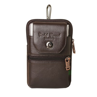 Leather Fanny Pack New Cowhide Men's Waist Bags Genuine Leather Casual Male Fanny Pack Small Belt bags For Men Black Brown
