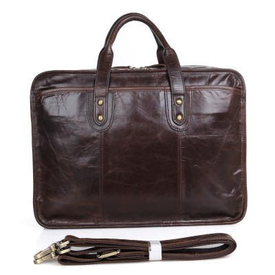 Men Messenger Bags Mens Genuine Leather Briefcase 15 Inch Laptop Handbag Real Pc Shoulder Bag Cow Business Large Case