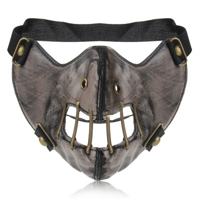 Leather Cosplay Masks Steampunk Gear Mask Gothic Spikes Rock Rivets Hip Pop Masks Men Women Half Face Masque Party Masks