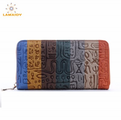 2017 brand Female clutch Genuine Leather Long Design Women Wallets coin purses holders dollar price wallet and purse carteras