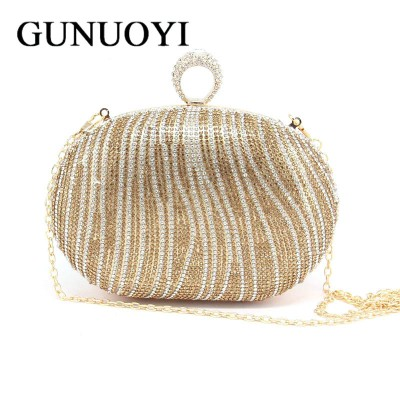 2019 Evening Bag Clutch Bags Lady Wedding Purse Rhinestones Wedding Handbags SilverGoldBlack Evening Clutch Bags JM08-1