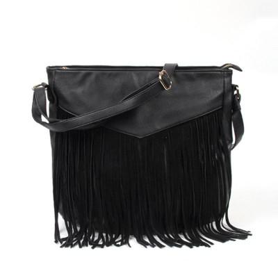 Bolsas Feminina New Tassel Fringed Ladies Fashion Single Shoulder Messenger Bag Pu Leather Flap Zipper Soft Hand Crossbody Bags