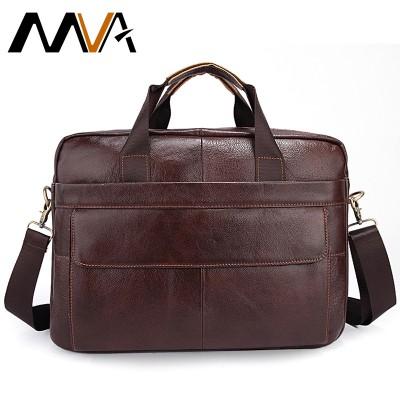 Genuine Leather men bags  Cowhide Leather Men's Messenger Crossbody Shoulder Handbag Briefcase 14 Laptop Business Male Bag 1115
