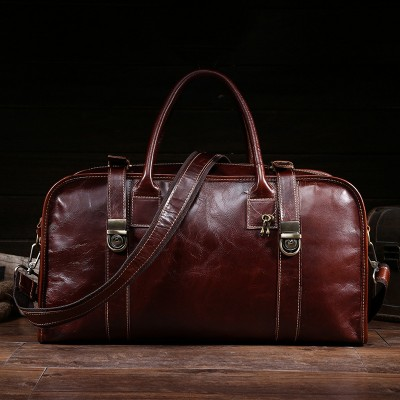 Genuine Leather Men Bags 100% Cowhide Travel Bags Fashion Man Crossbody Shoulder Bags Male Duffles Luggages Travel Bag