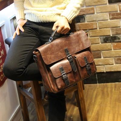 New Fashion Retro men bag crazy horse leather men's handbags casual business shoulder bag briefcase messenger bags