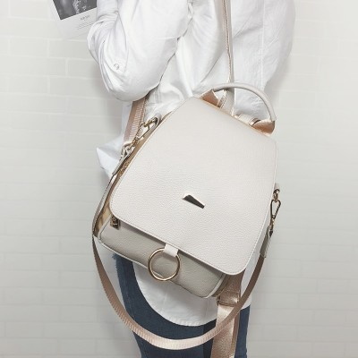 2019 new female Small backpack shoulder bag women PU leather Nylon Backpack College Simple Leisure bag for girls