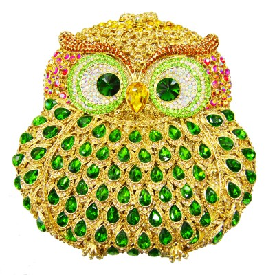 Animal braccialini Owl women bags pochette handmade prom Clutch evening bags Luxury party bags crystal clutch bags SC020