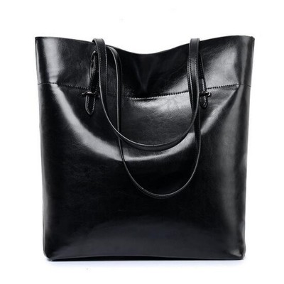 Famous Brands Women Genuine Leather Handbags 2019 Fashion Big Capacity High Quality Tote Bags Shopping Bag Casual Shoulder Bags