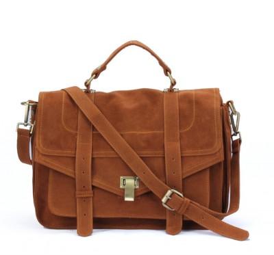 Big Satchel retro messenger bag female suede designer handbags high quality crossbody bags for women briefcase postman bag