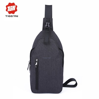 Tigernu Men Crossbody  Bag Splashproof Oxford Fabric Messenger Mini Ipad Mobile  Money Phone Belt  Chest Bag  Small