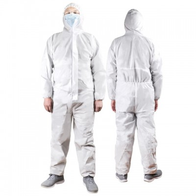 WELLDAY  isolation gown dustproof clothing disposable non-woven hoodie size 170-175
