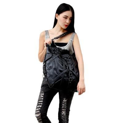 Women Punk Rock Messenger Bags Handbags Gothic Shoulder Bags Ladies Big Bags European Retro Shoulder Bags