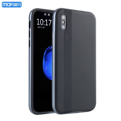 MOFI Phone Case For iphone X case cover for iphone X edition case special carbon fiber MOFi for iphoneX case 2 in 1 pc frame silicone soft case
