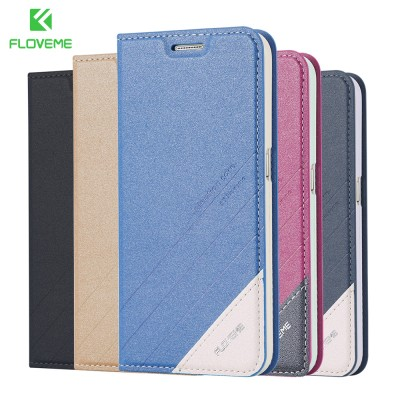 Luxury PU Leather Phone Case For Samsung Galaxy S8 S7 S6 Edge Plus S5 Note 5 Note 4 Flip Wallet Card Slot Phone Case Cover