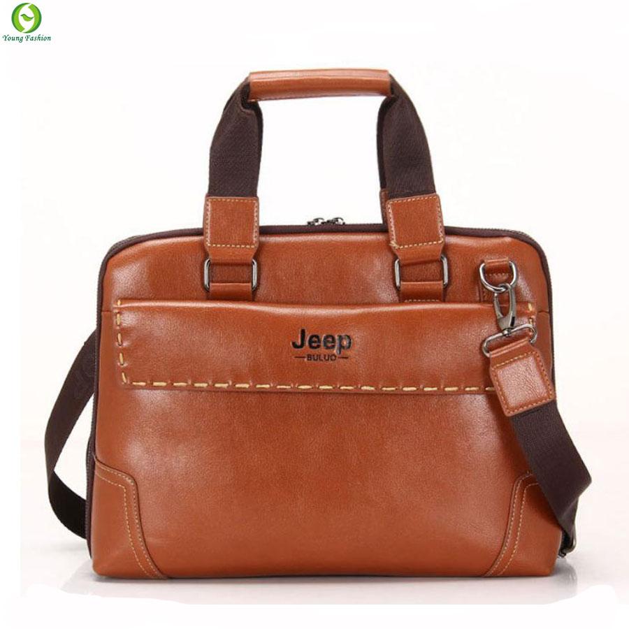 b6598e0586b7 Young fashion men handbag business leather bag men messenger ...