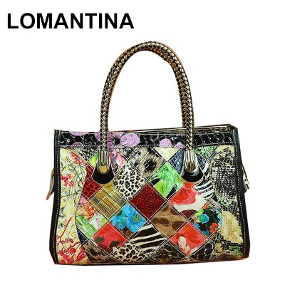 Sexy Bags Women Top-Handle Tote Messenger Bag Patent Leather Snake Pattern Sexy Ladies Handbags