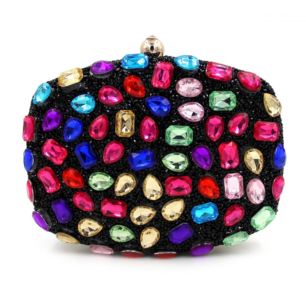 New Design Evening Bag Green Stone Crystal Luxury Day Clutch Bag Diamond  Ladies Handbags Beaded Party Purse Bride Wedding Bag 3fa036deaac5