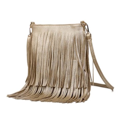2019 Women Fashion Tassel Fringe Handbags Trend PU Leather Shoulder Bag Ladies Black Leather Crossbody Bags Bolsa Feminina A162