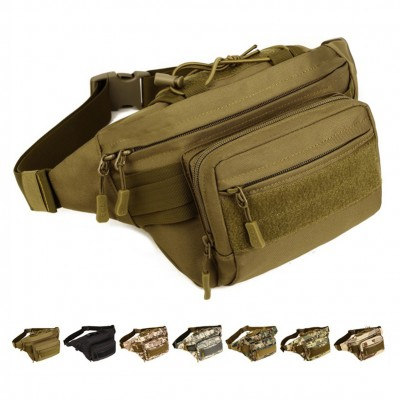 2019 MOLLE Mini Vice Pocket Multi-function Military Bag Men Waist Packs Waterproof Nylon Waist Bag Fanny Packs Belt Pack D202