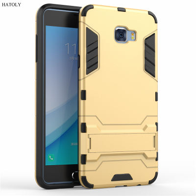 Phone Case For Samsung Galaxy C7 Pro Cover Anti-knock Silicone + Plastic Kickstand Phone Case For Samsung Galaxy C7 Pro Case C7010