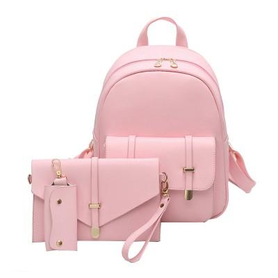 Women PU Leather Backpack Cute School Bags for Teenage Girls Black Shoulder Bag Women Backpack P