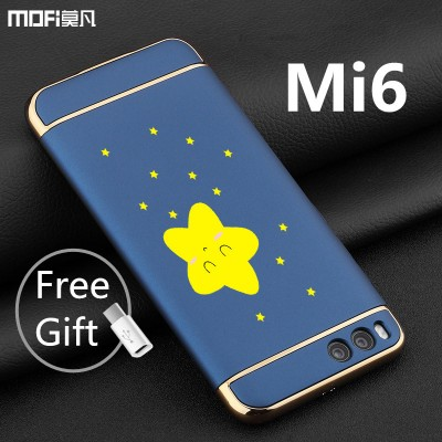 MOFi Case for xiaomi mi6 case mi6 cover MOFi original luxury case xiaomi mi 6 back cover 3 in 1 capa coque funda housing