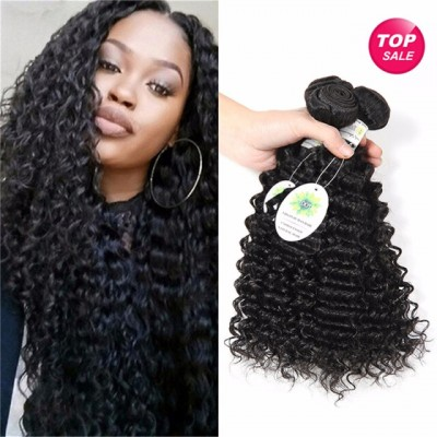7A Brazilian Deep Curly Virgin Hair 4Pcs Unprocessed Brazilian Virgin Hair Curly Human Hair Extensions Cheap Brazilian Deep Wave