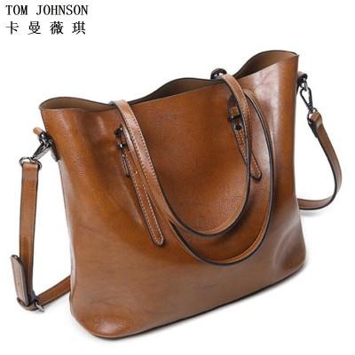 2019 Genuine Leather Handbag Women's Messenger Bag Female Shoulder Bag Leather female Bucket Bag VR1008