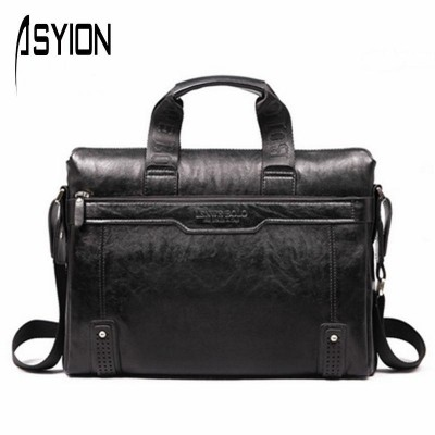 ASYION Brand Bag Leather Business Handbag Men's Briefcase Bag Men Messenger Bag Bolsas Fashion Travel Laptop Bag Tote DB3721-1