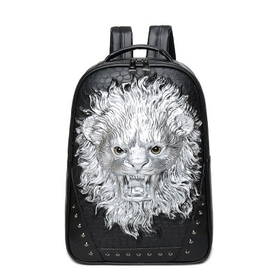 Gothic Steampunk Unique backpack cool bag steampunk fashion PU Leather Backpack 3D Halloween Vintage Women Men Black Bags Rivets Computer Laptop Travel Bag for Teenage Girls