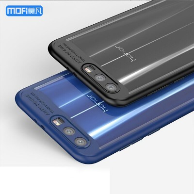 """Honor 9 case for Huawei honor 9 cover transparent case hard PC soft edge blue for huawei honor9 case funda accessories 5.15"""""""