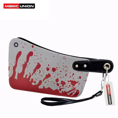 MAGIC UNION Fashion Women's Handbags Cleaver Clutch Bags Blood Choppers Purse Handbag Creative Phone Package Women Leather Bag