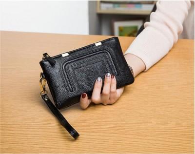 2019 Korean fashion custom luxury travel ladies fancy hand purse case waterproof smart cheap cute women wallet genuine leather