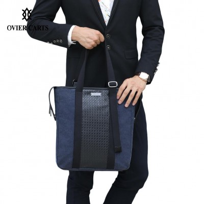 High Quality Canvas Men Briefcase Man Bags Business Laptop Tote Bag Men's Crossbody Shoulder Bag Men's Travel Bags Handbags