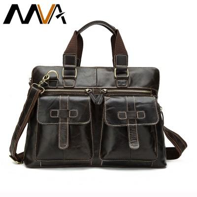 MVA Genuine Leather Men Handbags High Quality Casual Business Briefcase Men's Messenger Bags Business Man Travel Shoulder Bag