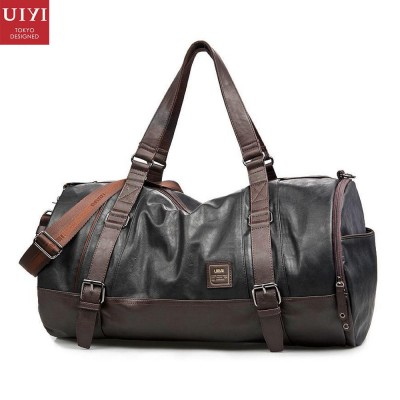 UIYI Casual Brand Men Handbag Soft PU Leather Messenger Crossbody Bag Travel Male Tote Satchel Shoulder Bags Zipper Solid 140085